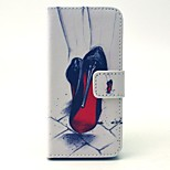 Cartoon Painting Colorful Colored Drawing PU Leather Diamond Full Body Case with Kickstand and Card Slot for iPhone 5C