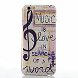 Note Pattern of Transparent Frosted PC Material Phone Case for iPhone 6