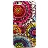 Orange Flower Pattern TPU Material Soft Phone Case for iPhone 6