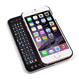 Sliding Bluetooth Keyboard and Hardshell Case with Backlight for iPhone 6/4.7Inch(Black)