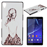 Back Pattern TPU Material Soft Phone Case for Sony Z1