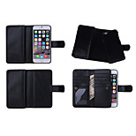 Wallet Case Wrist Strap Genuine Leather Full Body Cases with 9 Card Slots for iPhone 6s Plus(Assorted Colors)