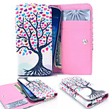 Color Heart Tree PU Leather Wallet style Full Body Case and Card Slot for Sony Xperia M4 Aqua