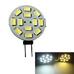 G4 3W 12x5630SMD 250-270LM 3000-3200K/6000-6500K Warm White Light/White Light LED Spot Bulb (DC 12V)