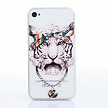 Tiger-Muster-TPU Material weich Telefonkasten für iphone 4 / 4s