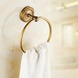 Antique Brass Carved Vine Towel Ring