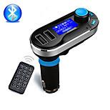 Bluetooth kit carro transmissor fm player mp3 mãos livres sem fio com dual 2.1a carregamento USB, suporte USB / SD / aux-in