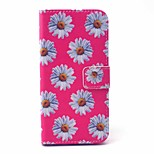 EFORCASE® Pink Chrysanthemum Painted PU Phone Case for iphoneSE/5S/5/6/6S/6plus/6S plus