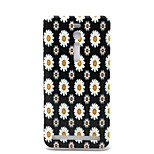 White Daisy Pattern TPU Material Phone Case And Screen Protector for Asus Zenfone 2