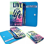 Live the Life PU Leather Wallet style Full Body Case and Card Slot for Sony Xperia M4 Aqua