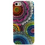 Boom Flower Pattern TPU Soft Back Case for iPhone 5/5S