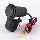 Dual USB Car Motorcycle Cigarette Lighter Power Charger Adapter Socket