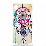 Campanula Color Pattern Transparent Frosted PC Material Phone Case for Sony Z4