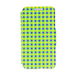 Kinston® Blue and Yellow Diamond Pattern PU Leather Full Body Cover with Stand for HTC One M9 Plus/ HTC One M9+