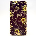 Small Yellow Flowers Pattern TPU Material Soft Phone Case for iPhone 6