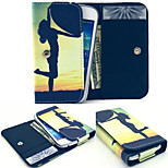 Sunrise Heart PU Leather Wallet style Full Body Case and Card Slot for Nokia N8