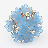 Ring Adjustable Party Jewelry Alloy / Rhinestone Women Statement Rings 1pc,One Size White / Pink