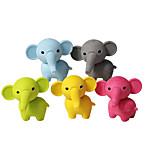 2шт милый слон резиновый съемный дирижер лабиринт школьников дети призы подарок игрушка случайный цвет