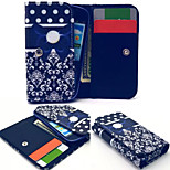 Red Bow Leather Wallet style Full Body Case and Card Slot for Sony Xperia E3