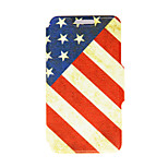 Kinston® Nostalgic USA Pattern PU Leather Full Body Cover with Stand for HTC One M9 Plus/ HTC One M9+