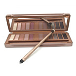 12 Colors Soft Earthy Colors Makeup Palette Eyeshadow with Tin Box(Model 3)