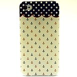 Wave Anchor Pattern TPU Soft Back Case for iPhone 4/4S