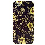 Purple Flower Pattern TPU Soft Back Case for iPhone 5/5S