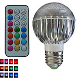 1pcs SchöneColors® E26/E27/GU10 8W 3X3W LED Color-Changing Dimmable/Remote-Controlled/Decorative Bulbs AC85-265V