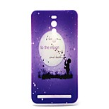 Hope You To the Moon Pattern TPU Material Phone Case And Screen Protector for Asus Zenfone 2