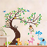 Animals Botanical Shapes Wall Stickers Plane Wall Stickers Decorative Wall Stickers,Vinyl Material Removable Home Decoration Wall Decal