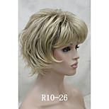 New Short Wig Choppy Layers Flip Curly With Bangs Womens Wigs