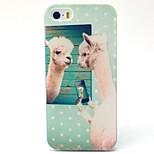 caja linda del teléfono del tpu material de patrón de alpaca para 5c iphone
