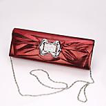 Handbag Faux Leather Evening Handbags Set Auger with Bowknot Lady Hand Bag Fashion Banquet Bag Bride Bag