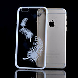 Feather Pattern TPU and Acrylic Combo Phone Case for iPhone 6 Plus(Assorted Colors)