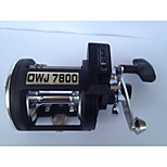 CJSH OWJ7800 4.5:1 3 Ball Bearings Sea Fishing Trolling Reels Right-handed