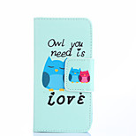 High Quality Fashion Design COCO FUN® Fall in Love Owl Pattern PU Leather Wallet Case Cover for Sony Xperia M2 S50h