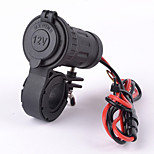 Motorcycle Car Waterproof Cigarette Lighter Plug Socket Adapter 12V/24V