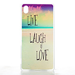 Sandy Beach Pattern Transparent Frosted PC Material Phone Case for Sony Z4