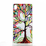 Colored Trees Pattern Transparent Frosted PC Material Phone Case for Sony Z4