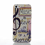 Note Pattern Transparent Frosted PC Material Phone Case for iPhone 5/5S