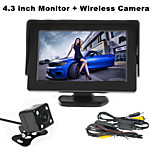RenEPai® 4.3 Inch Monitor + Wireless 170°HD Car Rear View Camera +  High-Definition Wide Angle Waterproof CMOS Camera