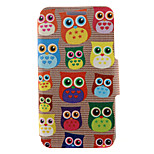 Kinston® Cute Owl Pattern Full Body PU Cover with Stand for HTC One M7/M8/M9 and HTC Desire 816/826/Eye