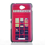 Red Pavilion Pattern Material TPU Soft Phone Case for Sony E4