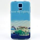 coco fun® modello animale autobus tpu di caso per mini i9600 / s5 galassia s5 / s4 9500 / s4 mini 9190 / s3 / s3 mini 8190