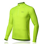 SPAKCT Bike/Cycling Jersey / T-shirt / Tops Men's Long Sleeve Breathable 100% Polyester Classic / Slim / SolidYellow / Green / Blue /