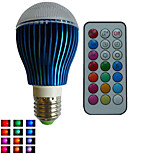 1pcs SchöneColors® E26/E27/GU10 9W Dimmable/21Keys Remote-Controlled/Decorative RGB Led Globe  Bulbs AC85-265V