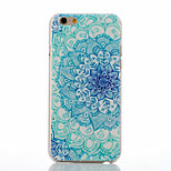 Blue and White Pattern of Transparent Frosted PC Material Phone Case for iPhone 6