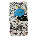 Kinston® the Fault In Our Stars Pattern Full Body PU Cover with Stand for HTC One M7/M8/M9 and HTC Desire 816/826/Eye