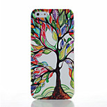 Colored Trees Pattern Transparent Frosted PC Material Phone Case for iPhone 5/5S