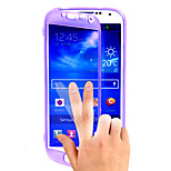 átlátszó lepattintható ingyenes turn érintőképernyős telefon TPU tok Samsung i9500 S4 (vegyes színek)